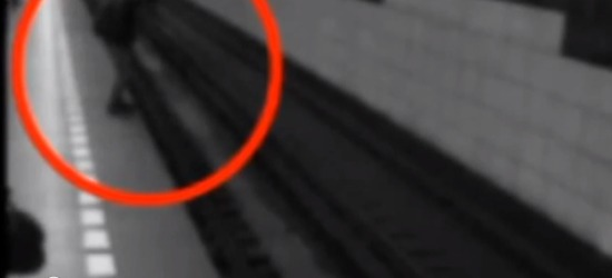 Woman hit by train on video, miraculously walks away without injury - Guyism